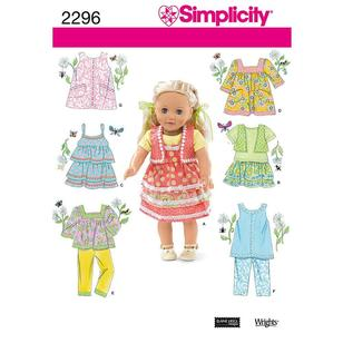 Simplicity Pattern 2296 Dolls Clothes