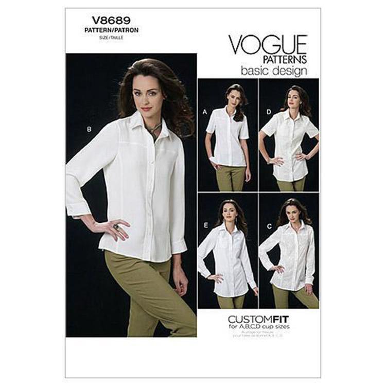 Vogue Pattern V8689 Misses' Shirt