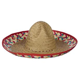 Party Creator Mexican Sombrero Edged Hat