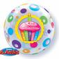 Qualatex Bubbles Birthday Cupcakes Dots Balloon Multicoloured