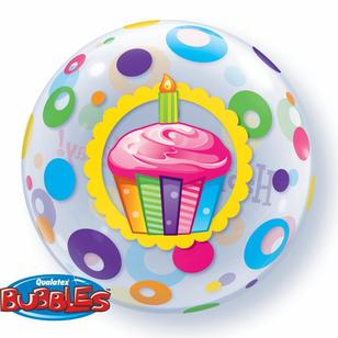 Qualatex Bubbles Birthday Cupcakes Dots Balloon