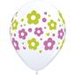 Qualatex Daisies Latex Balloon White