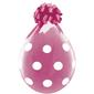 Qualatex Big Polka Dots Latex Balloon Clear