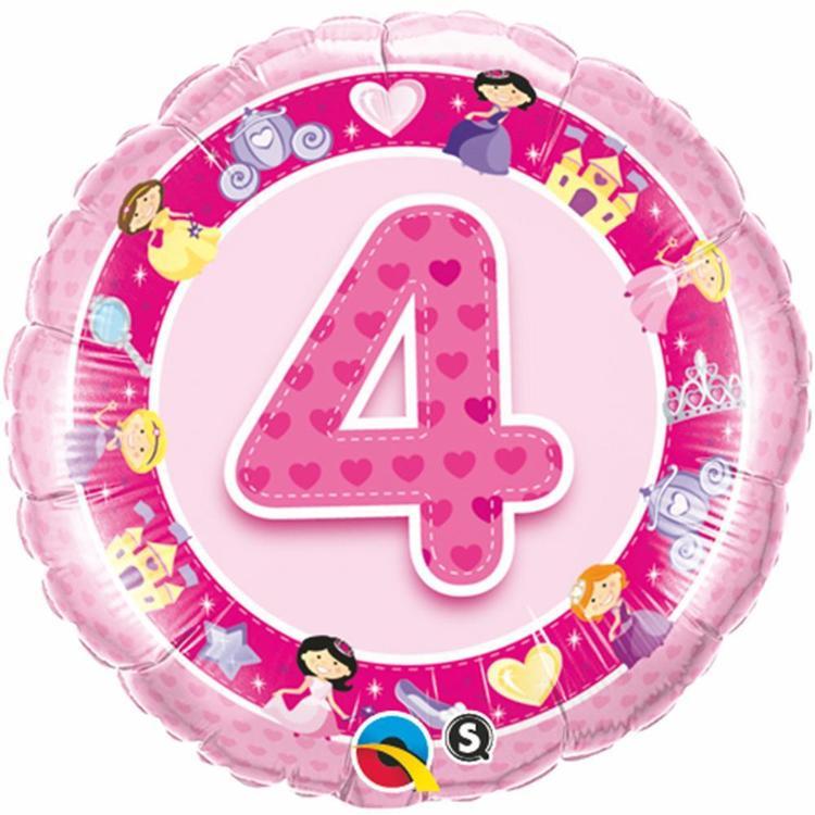 Qualatex Age 4 Princess Foil Balloon