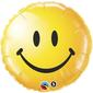 Qualatex Smiley Face Foil Balloon Yellow 45 cm