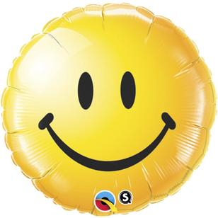 Qualatex Smiley Face Foil Balloon