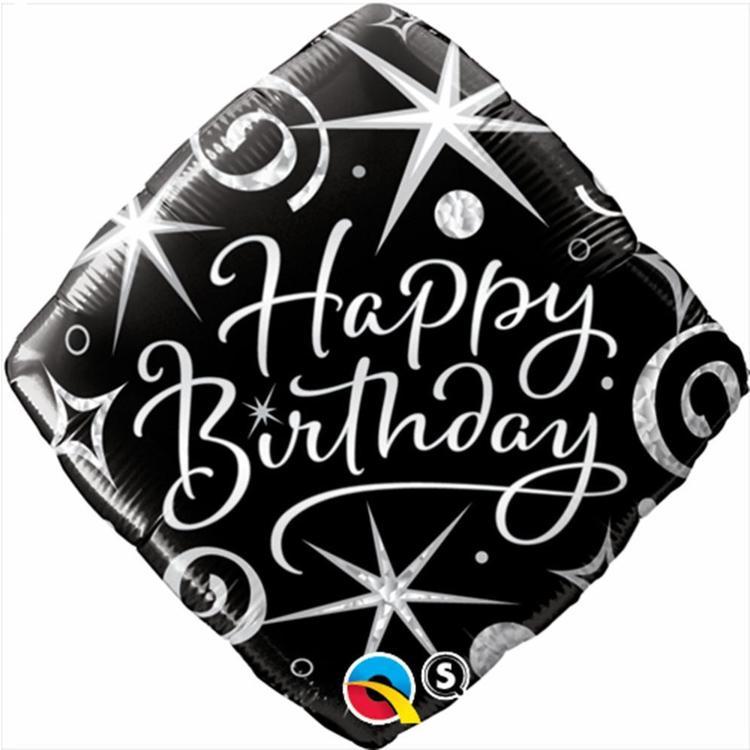 Qualatex Birthday Elegant Sparkles Foil Balloon