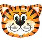 Qualatex Shape Tickled Tiger Foil Balloon Orange & Black