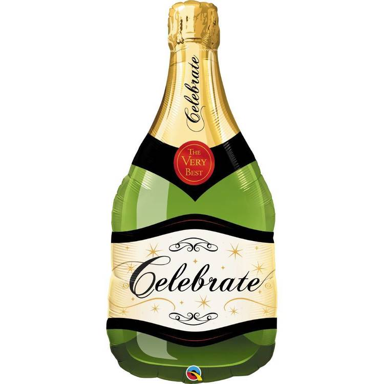 Qualatex Celebrate Bubbly Wine Bottle Foil Balloon