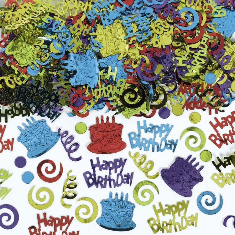 Amscan Assorted Happy Birthday Type Confetti Multicoloured