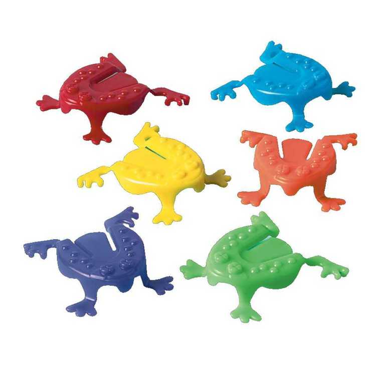 Amscan Hi Count Jumping Frogs Favours 6 Pack Multicoloured