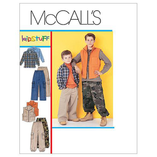 McCall's Pattern M6222 Boys' Shirt Vest & Pull-On Pants