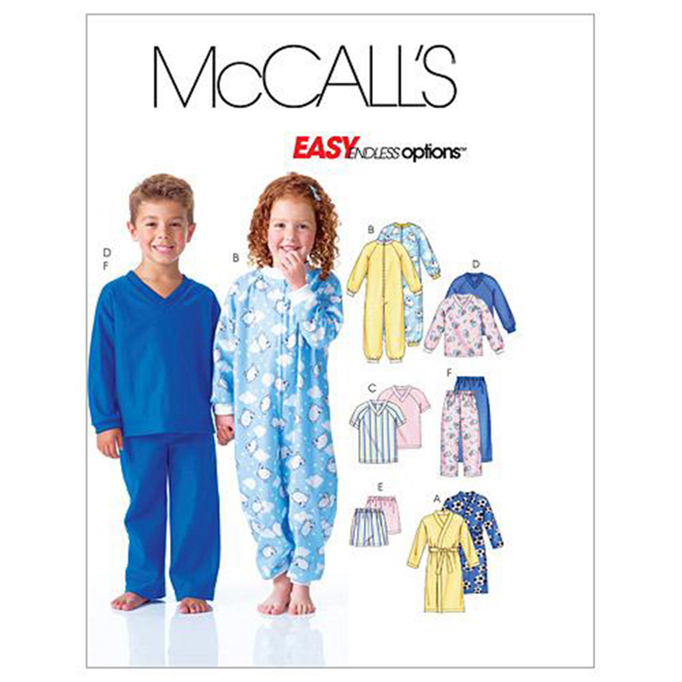 McCall's Pattern M6224 Kids' Robe Belt Jumpsuit Top Shorts & Pants