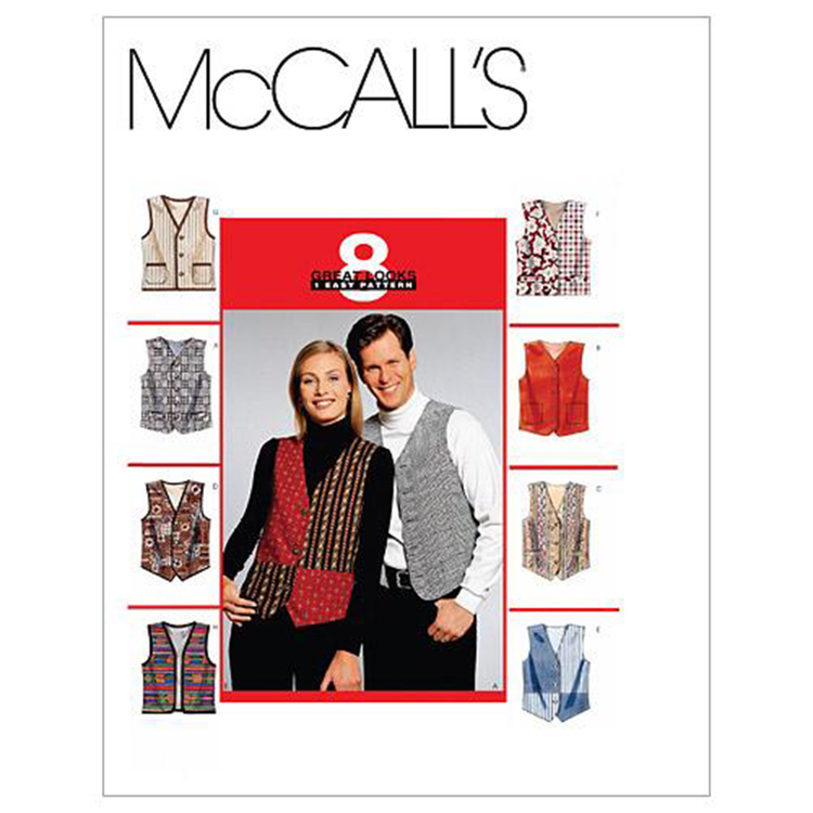 McCall's Pattern M6228 Teens' Lined Vests