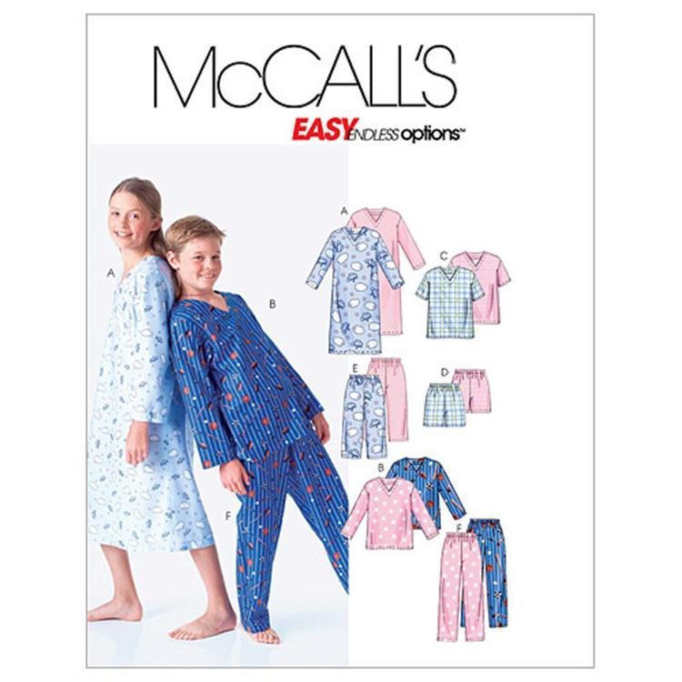McCall's Pattern M6227 Kids Shirt Tops Shorts & Pants