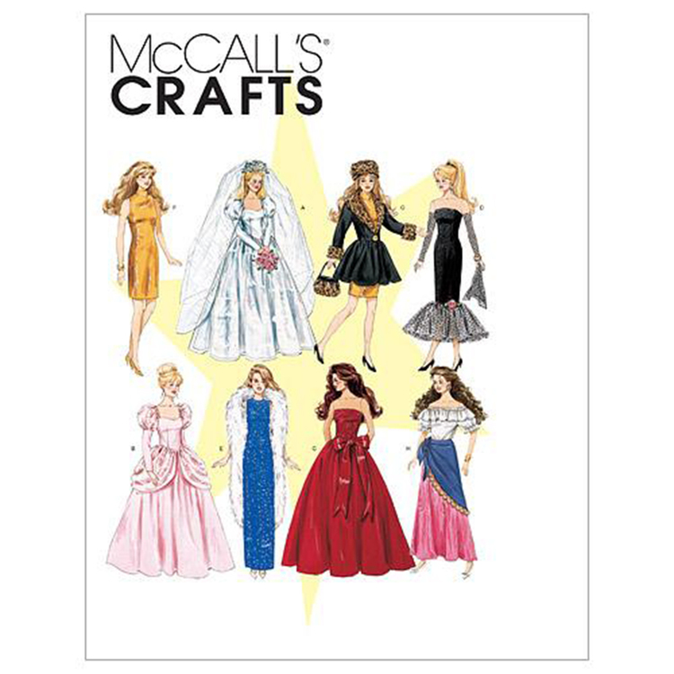 McCall's Pattern M6232 Fashion Doll Clothes One Size