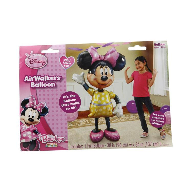 Amscan Foil Airwalker Minnie Yellow & Pink X Large