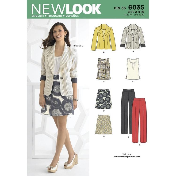 New Look Pattern 6035 Women's Coordinates
