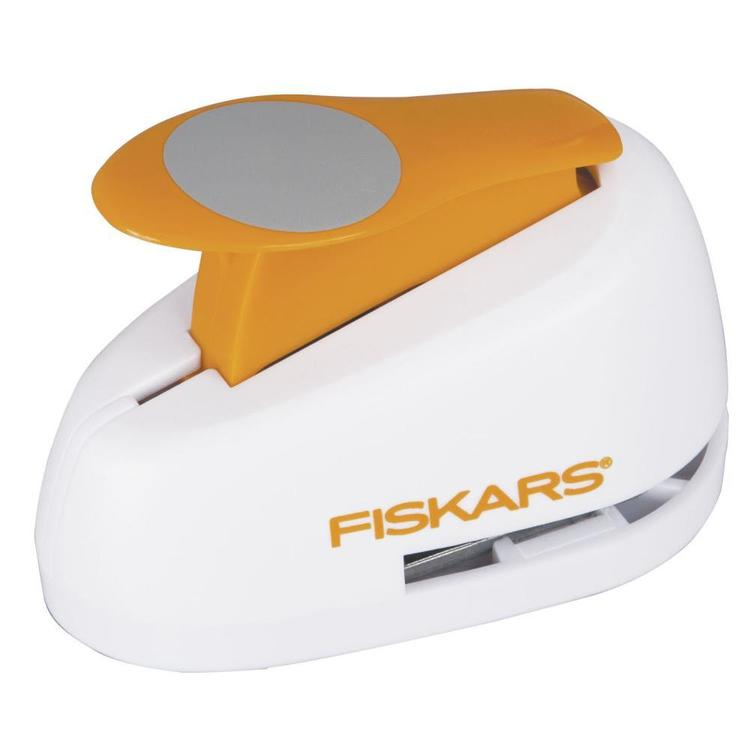 Fiskars Circle Lever Punch White & Orange