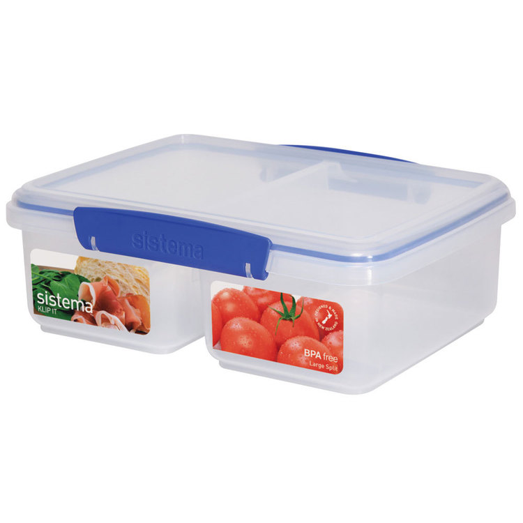 Sistema Klip It Split Container 2 L Clear