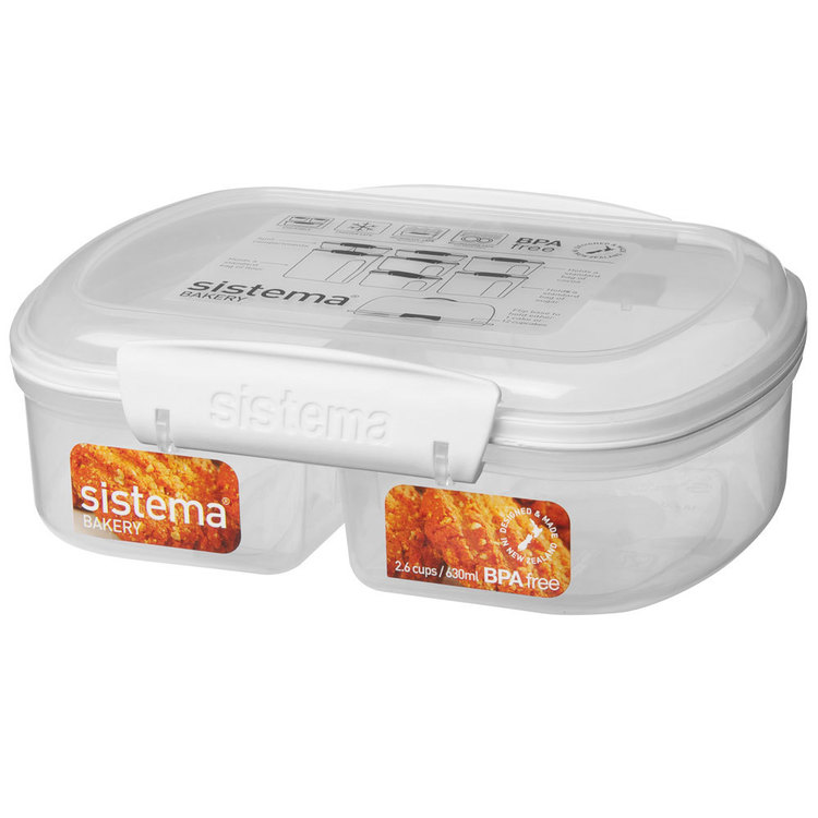 Sistema Split Klip It Bakery Container 630 mL Clear