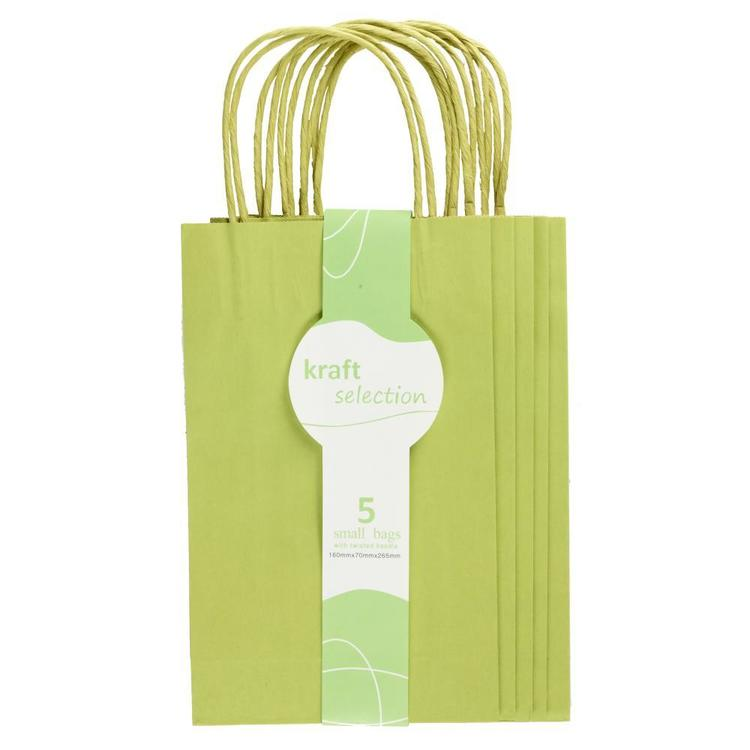 Small Kraft Bags 5 Pack