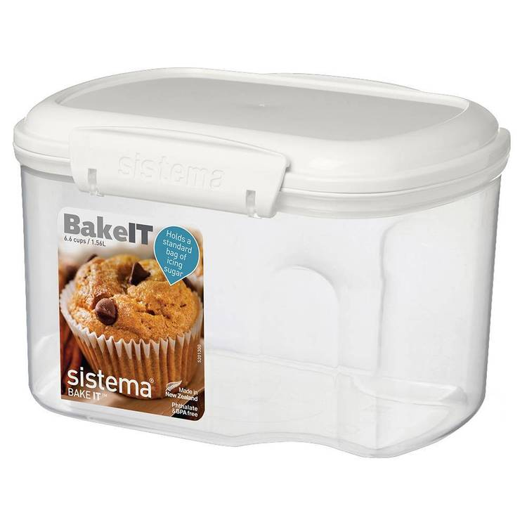 Sistema Klip It Bakery Container 1.56 L White & Clear