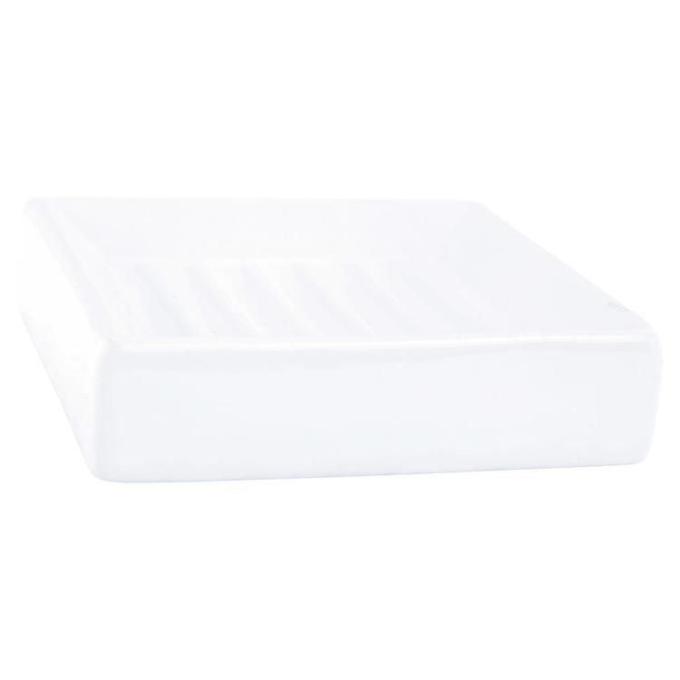Bath By Ladelle Industrial Soap Dish White