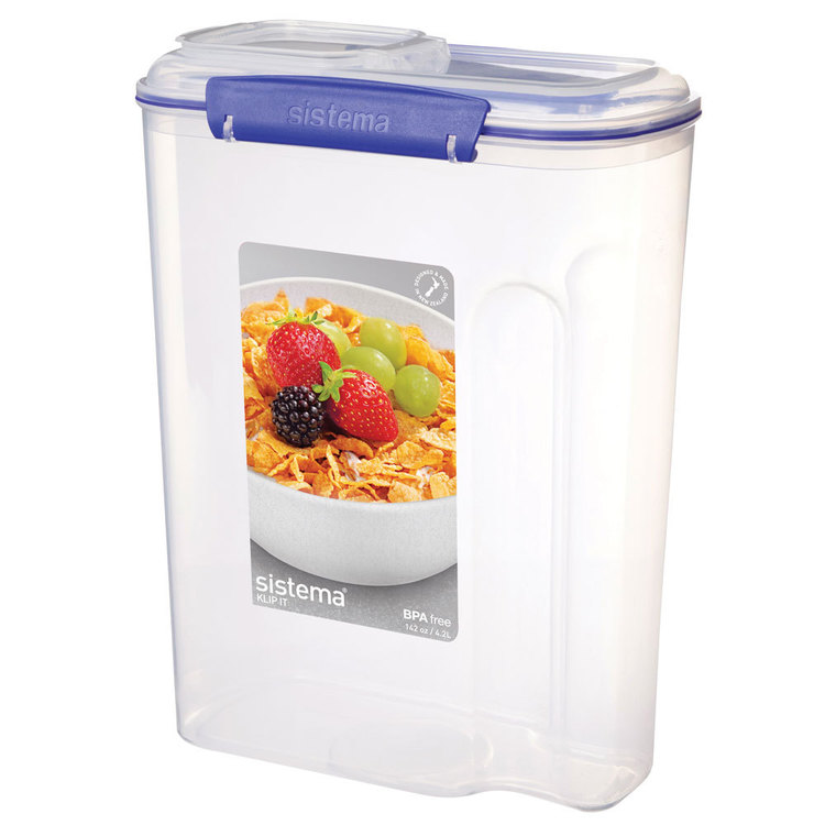 Sistema Klip It Cereal Container 4.2 L Clear
