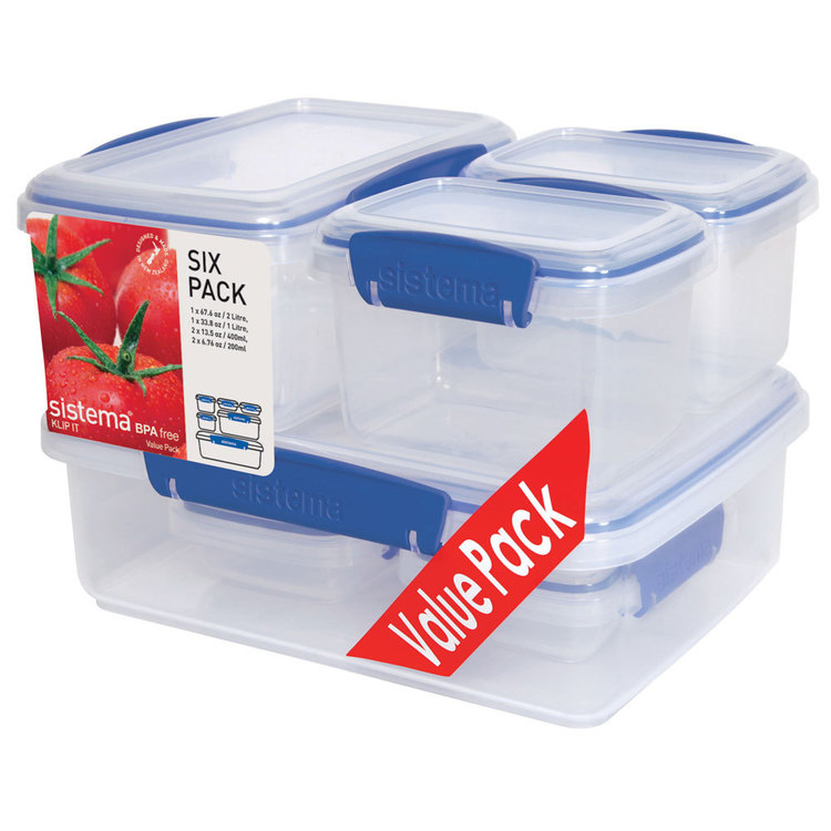 Sistema Klip It Container Six Pack Clear