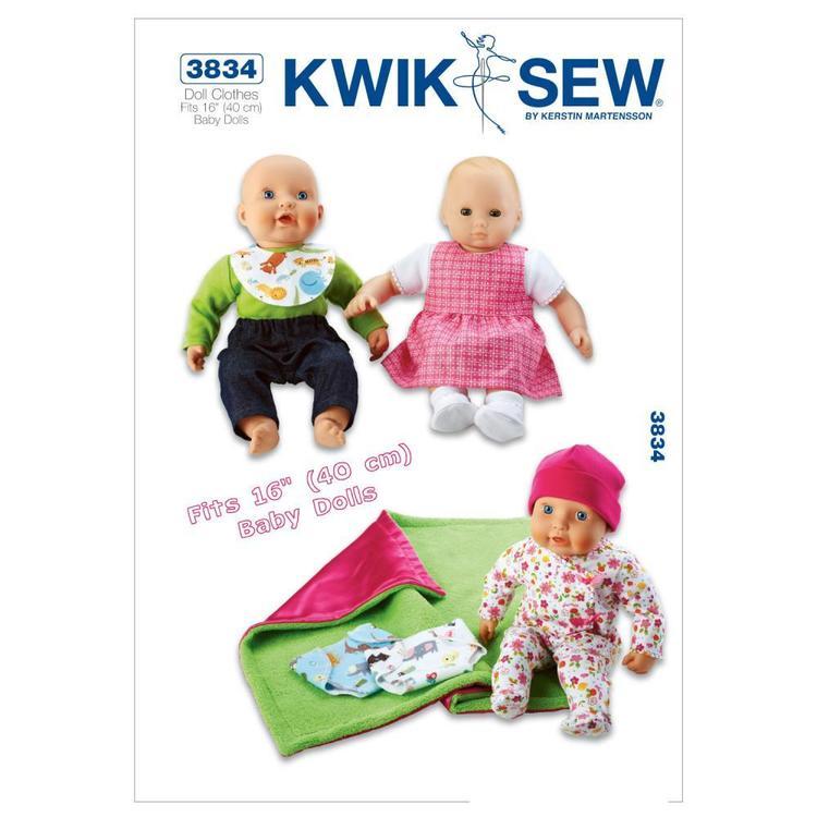 Kwik Sew Pattern K3834 Baby Doll Clothes
