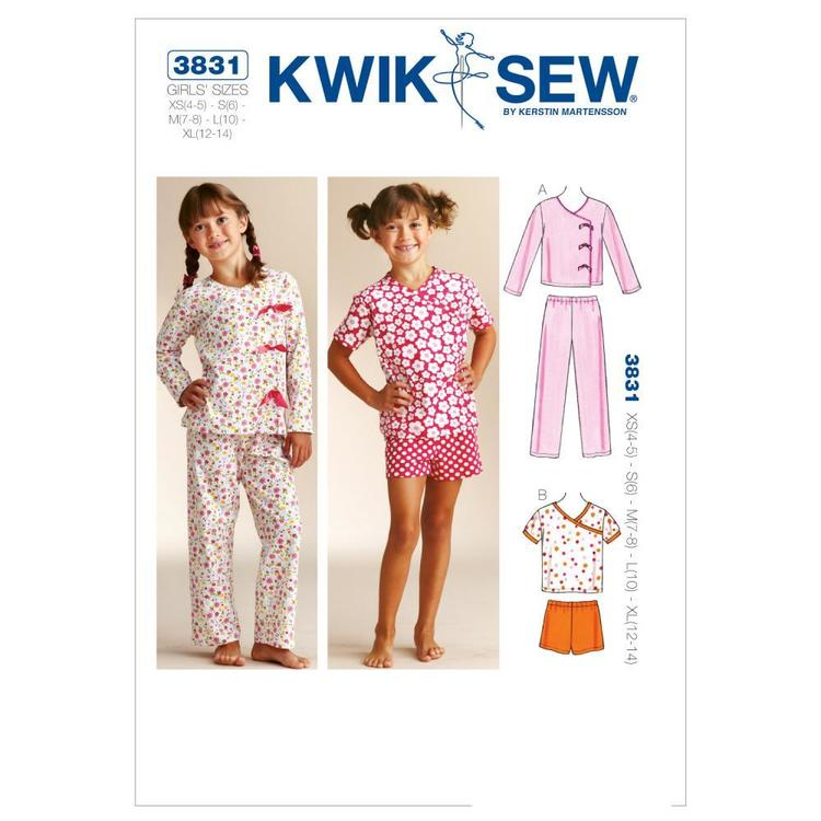Kwik Sew Pattern K3831 Sleepy-Time Pajamas