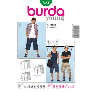 Burda 7381 Men's Shorts