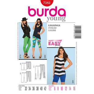 Burda 7382 Women's Pants