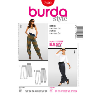 Burda 7400 Women's Pants