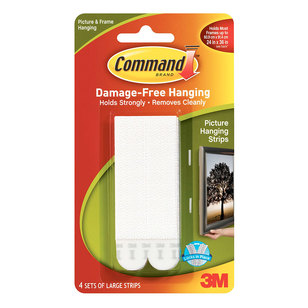 3M Command Large Picture Hanging Strips 4 Pack