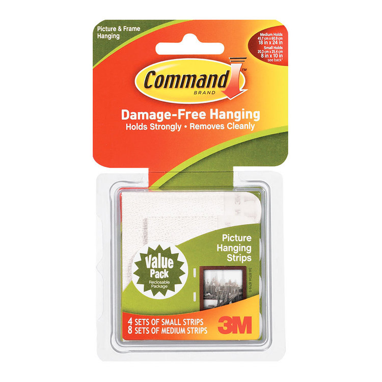 3M Command Picture Strips Combo White Small - Medium