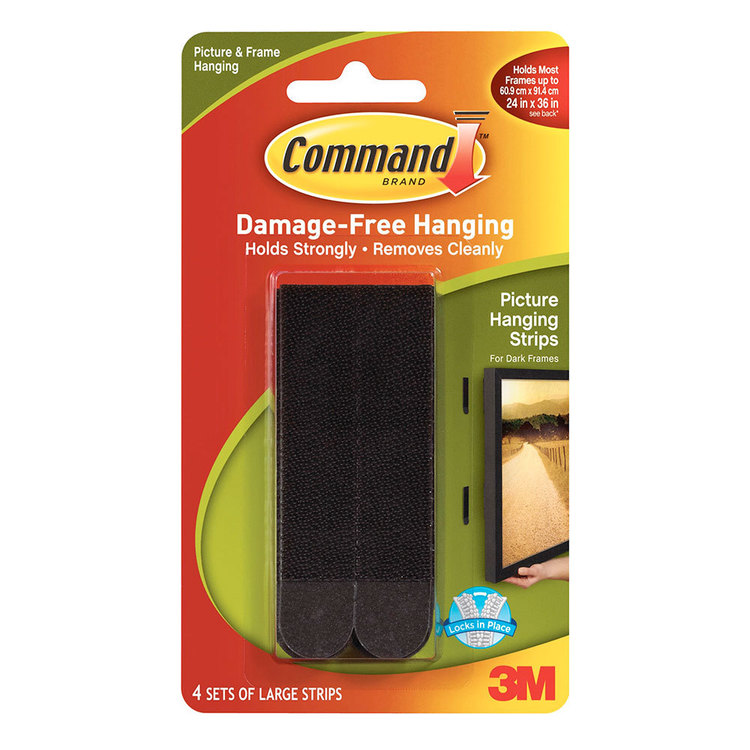 3M Command Picture Strips Black Large