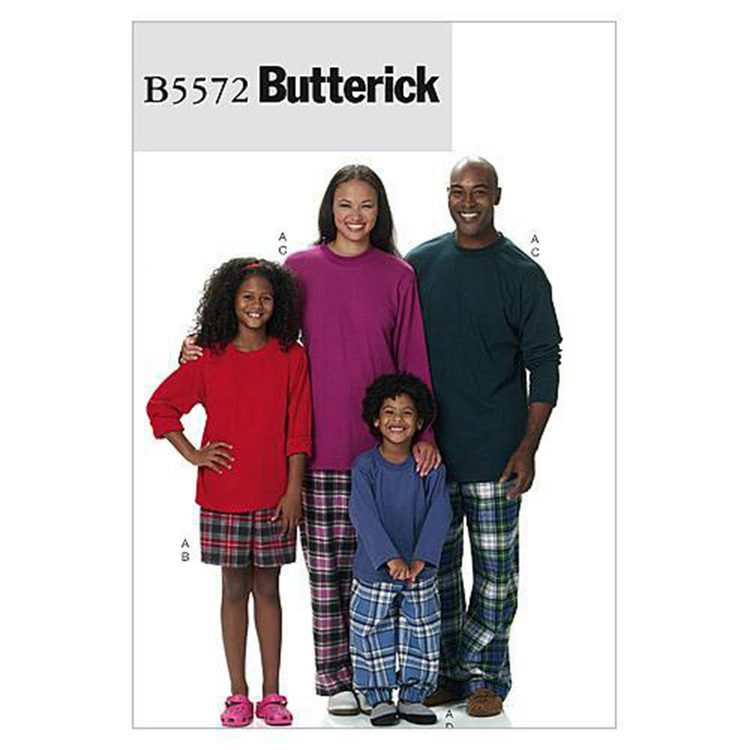 Butterick Pattern B5572 Teens' & Kids'  Top Shorts & Pants