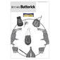 Butterick B5580 Sword Holder, Bags, Pouch, Bracers, Shoulder Covers & Feather Pin  One Size