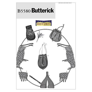 Butterick B5580 Sword Holder Bags Pouch Bracers Shoulder Covers & Feather Pin