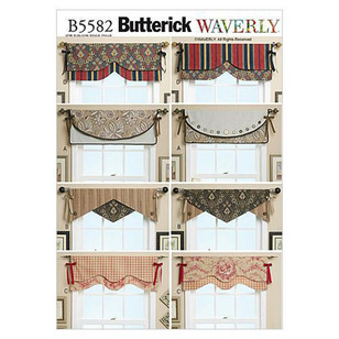 Butterick B5582 Reversible Window Valance
