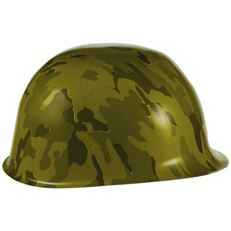 Amscan Camouflage Plastic Hats Green