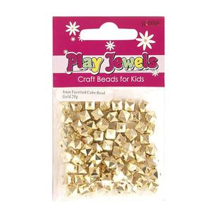 Ribtex Play Jewels Faceted Cube Beads