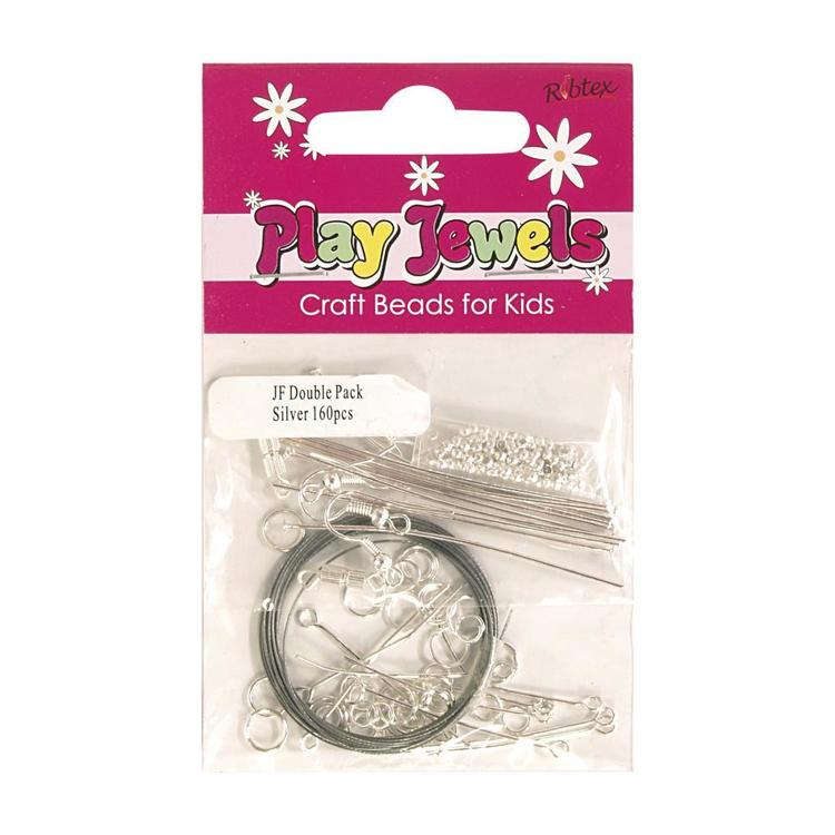 Ribtex Play Jewels Findings Pack Silver