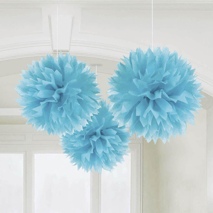Amscan 40 cm Fluffy Decorations 3 Pack