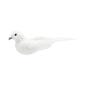 Critters Bird With Glitter Straight Tail White 11 cm