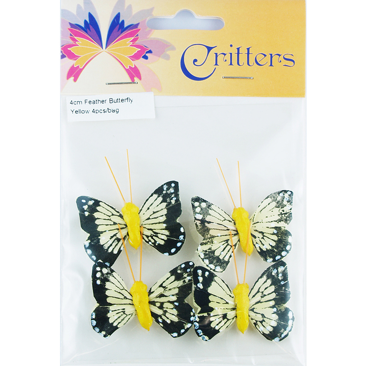 Critters Small Feather Butterfly