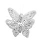 Critters Medium Gauze Butterflies 2 Pack Silver 10 cm