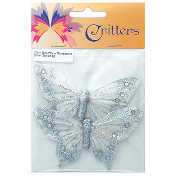 Critters Butterfly With Rhinestone